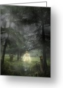 Ghost Walks Greeting Cards - Ghostly Gentleman Greeting Card by Christopher Elwell and Amanda Haselock
