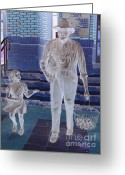 Ghost Walks Greeting Cards - Ghosts from a Simpler Time Greeting Card by Renee Trenholm