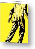Man Drawings Greeting Cards - Giallo Greeting Card by Giuseppe Cristiano