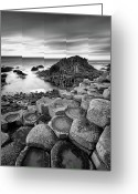 Northern Ireland Greeting Cards - Giants Causeway Greeting Card by Pawel Klarecki