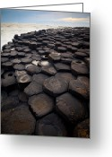 Hexagons Greeting Cards - Giants Causeway Pillars Greeting Card by Inge Johnsson