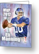 Eli Manning Greeting Cards - Giants Win Greeting Card by Clara Sue Beym