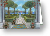 Iron Greeting Cards - Giardino Italiano Greeting Card by Guido Borelli