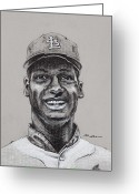 St.louis Cardinals Greeting Cards - Gibby Greeting Card by Jim Wetherington