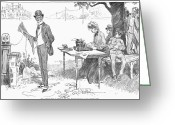 Typewriter Greeting Cards - Gibson: Businessman, 1903 Greeting Card by Granger
