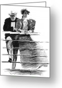 Lover Greeting Cards - Gibson: Couple, 1897 Greeting Card by Granger
