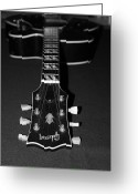 Acoustic Guitar Greeting Cards - Gibson Perspective Greeting Card by Lauri Novak