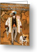 Pit Bull Greeting Cards - Gideons Big Minstrel Carnival Greeting Card by Marcie Adams Eastmans Studio Photography
