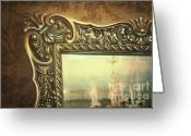 Local Greeting Cards - Gilded mirror reflection of chandelier Greeting Card by Sandra Cunningham