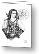 Swordsman Greeting Cards - Giles Dancer Greeting Card by Melissa A Benson
