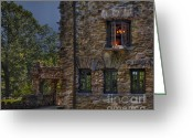 Acting Greeting Cards - Gillette Castle exterior HDR Greeting Card by Susan Candelario