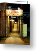 Gameroom Greeting Cards - Gilleys of Dallas at Night Greeting Card by Steve Shockley