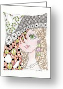 Paula Dickerhoff Greeting Cards - Ginger Greeting Card by Paula Dickerhoff