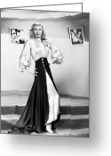 1950s Fashion Photo Greeting Cards - Ginger Rogers (1911-1995) Greeting Card by Granger
