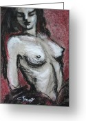 Gipsy Greeting Cards - Gipsy Fire - Nudes Gallery Greeting Card by Carmen Tyrrell