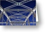 Horizontal Lines Greeting Cards - Girders of Shelby Street Bridge Greeting Card by Jeremy Woodhouse