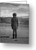 One Person Photo Greeting Cards - Girl At A Lake Greeting Card by Joana Kruse