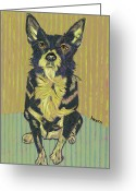 David Greeting Cards - Girl Dog of My Dreams Greeting Card by David  Hearn