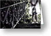 Railings Greeting Cards - Girl With Oil Lamp Greeting Card by Joana Kruse