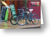 Bicycle Greeting Cards - Give Me Shelter Greeting Card by Debbi Granruth
