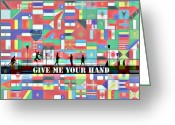 Other World Greeting Cards - Give me your hand Greeting Card by Stefan Kuhn