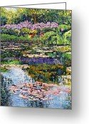 Recommended Greeting Cards - Giverny Reflections Greeting Card by David Lloyd Glover