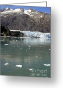 Mountain Summit Greeting Cards - Glacier and icebergs Greeting Card by Sophie Vigneault