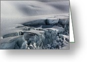 Glacier Greeting Cards - Glacier Closeup Greeting Card by Kristin Elmquist