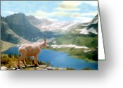 Montana Digital Art Greeting Cards - Glacier National Park Greeting Card by Kurt Van Wagner