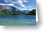 Lake Mcdonald Greeting Cards - Glacier National Park Greeting Card by Sandra Bronstein