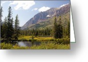 Marty Koch Greeting Cards - Glacier Ponds Greeting Card by Marty Koch