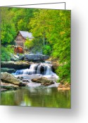 Babcock Greeting Cards - Glade Creek Grist Mill Greeting Card by Darren Fisher