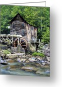 Glade Mill Greeting Cards - Glade Creek Grist Mill in West Virginia HDR Greeting Card by Brendan Reals