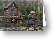 Glade Mill Greeting Cards - Glade Creek Grist Mill Greeting Card by Kathy Jennings
