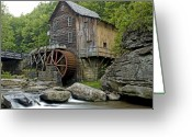 Babcock Greeting Cards - Glade Creek Grist Mill located in Babcock State Park West Virginia Greeting Card by Brendan Reals