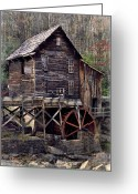 Glade Mill Greeting Cards - Glade Creek Grist Mill Series II Greeting Card by Kathy Jennings