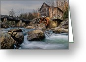 Glade Mill Greeting Cards - Glade Creek Grist Mill  Greeting Card by Wade Aiken