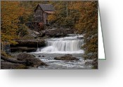 Glade Mill Greeting Cards - Glade Creek Mill 2011 Greeting Card by Wade Aiken