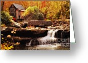 Glade Mill Greeting Cards - Glade Creek Mill Series 1 Greeting Card by Kathy Jennings