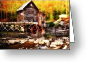 Glade Mill Greeting Cards - Glade Creek Mill Series 2 Greeting Card by Kathy Jennings