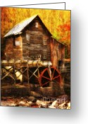 Glade Mill Greeting Cards - Glade Creek Mill Series 3 Greeting Card by Kathy Jennings