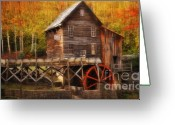 Glade Mill Greeting Cards - Glade Creek Mill Series 4 Greeting Card by Kathy Jennings