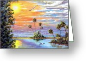 Location Art Greeting Cards - Glades Inspiration Greeting Card by Riley Geddings