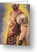 Linen Greeting Cards - Gladiator  Greeting Card by Catherine Link