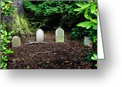Burials Greeting Cards - Glamis Pet Cemetery Greeting Card by Jason Politte