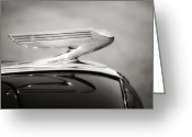 Automobile Hood Greeting Cards - Glamorous 39 Greeting Card by Kurt Golgart
