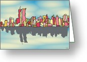 Gotham City Greeting Cards - Glamorous N Y Greeting Card by Wolfgang Karl