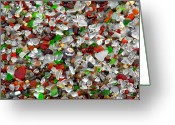 Christine Greeting Cards - Glass Beach Fort Bragg Mendocino Coast Greeting Card by Christine Till
