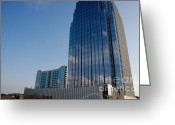 Nashville Greeting Cards - Glass Buildings Nashville Greeting Card by Susanne Van Hulst