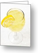 Summertime Drink Greeting Cards - Glass of Lemonade Greeting Card by Andee Photography
